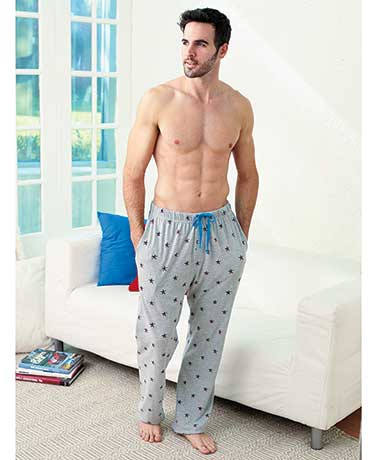 Men's Printed Knit Lounge Pants