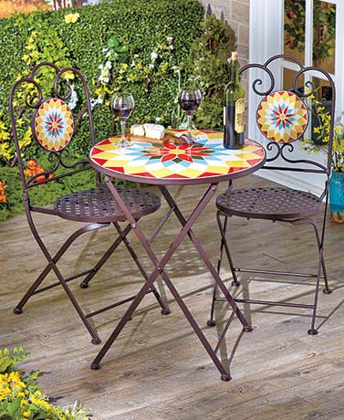 Mosaic Tile Folding Tables or Chairs