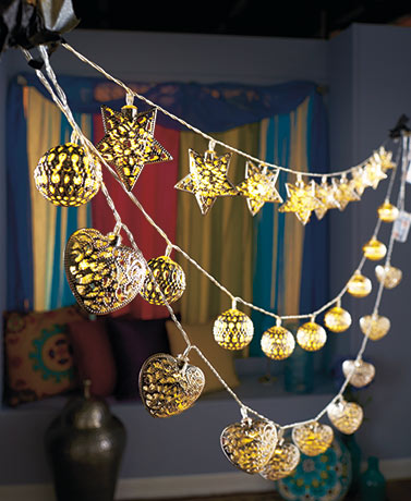Battery-Operated Metal String Lights