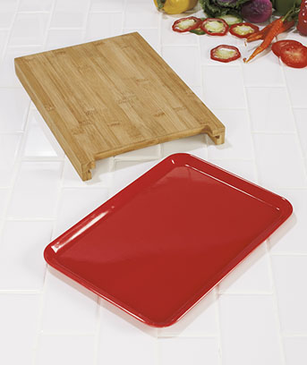Bamboo Cutting Board with Tray