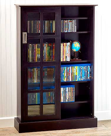 Atlantic® Windowpane 576™ Espresso Media Cabinet