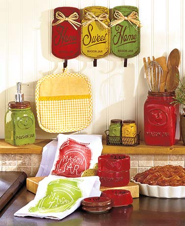 Country mason jar kitchen collection ltd commodities for Kitchen decor collections