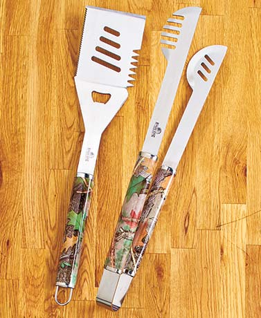 2-Pc. Stainless Steel Camo BBQ Tool Sets