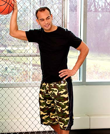 Men's Camouflage Print Active Shorts
