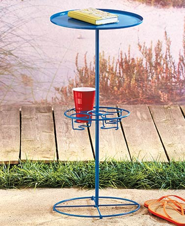 Outdoor Table with Beverage Station