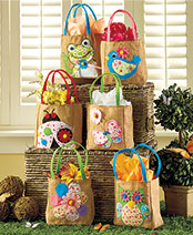 Set of 6 Embellished Spring Treat Bags