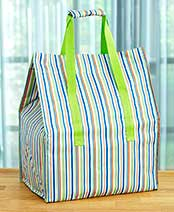 Insulated Market Bags - Stripes