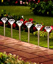 Set of 6 Diamond Solar Stakes