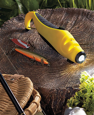 Lure Flashlight with Dual Blade Sharpener
