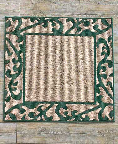 Scroll Border Square Accent Rugs