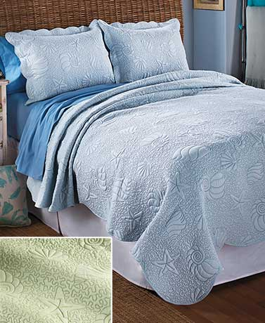 Coastal-Quilted Bedding Sets