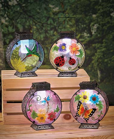 Stained Glass Solar Lanterns