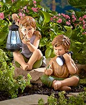 Solar Children Statues