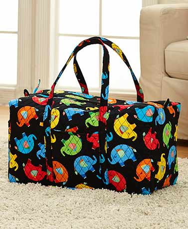 Quilted Oversized Luggage