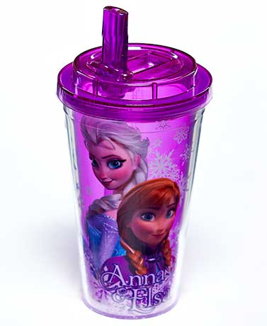 Licensed Flip Straw Cold Cups