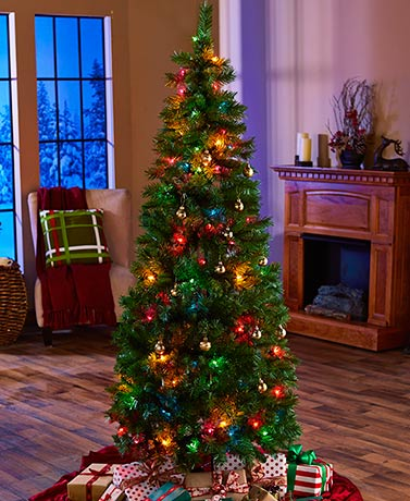 6-Ft. Pre-Lit Pop-Up Christmas Trees