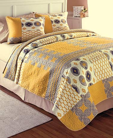 3-Pc. Printed Quilt Sets