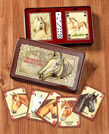 Horse Breeds Card & Dice Gift Tin