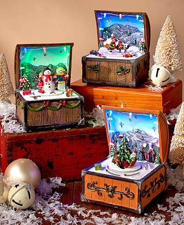 Animated Holiday Music Boxes