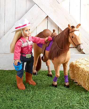 "18"" Dolls' Poseable Horse or Outfits"