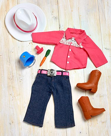 "18"" Dolls' Western Riding Outfit Set"