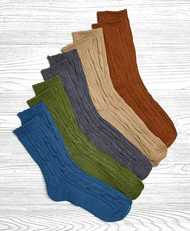 5-Pair Women's Solids Boot Socks