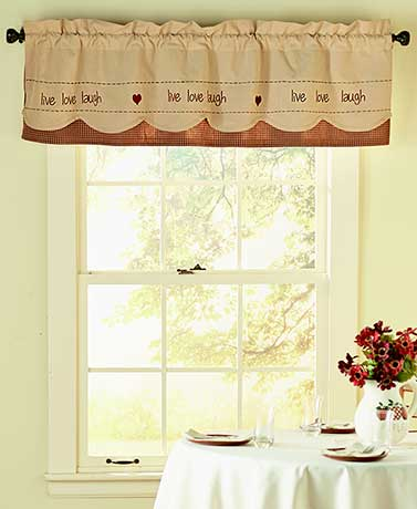 Sentiment Panel and Tie-Back Sets or Valances