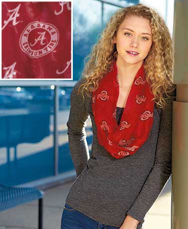 Collegiate Logo Endless Loop Scarves