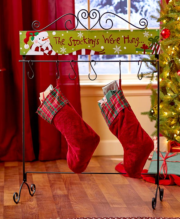 standing holiday stocking hanger - Decorative Christmas Stocking Holders