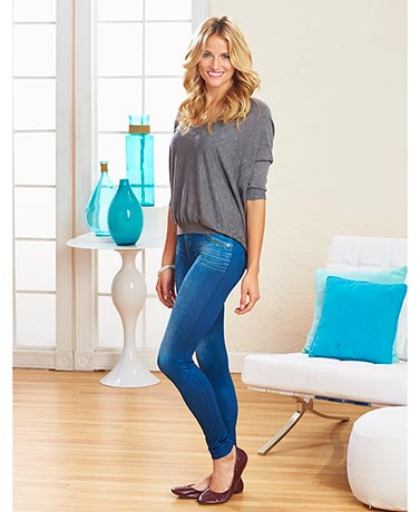 Set of 3 Fleece-Lined Jean Leggings