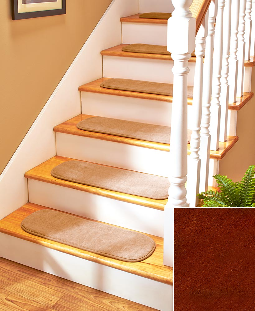 Non skid stair tread set - Non skid treads for exterior stairs ...