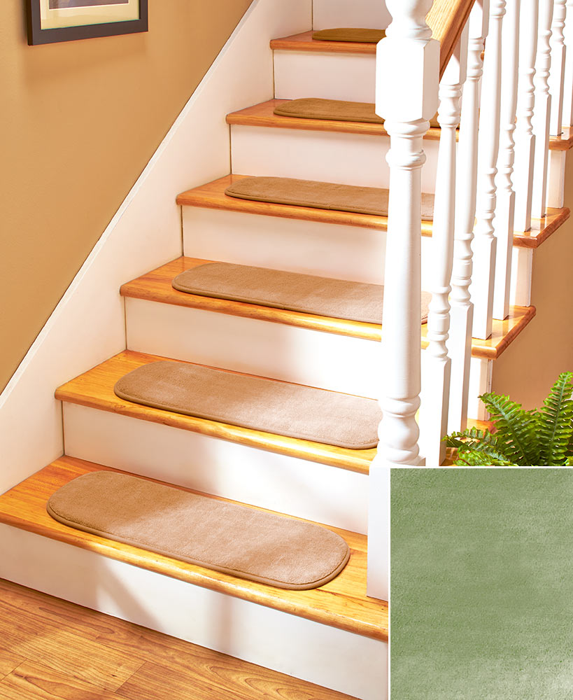 Non skid stair tread set ebay - Non skid treads for exterior stairs ...