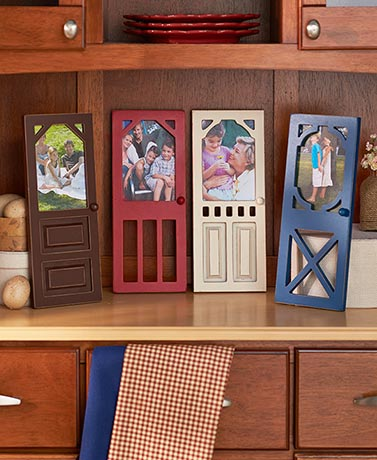 Rustic Door Photo Frames