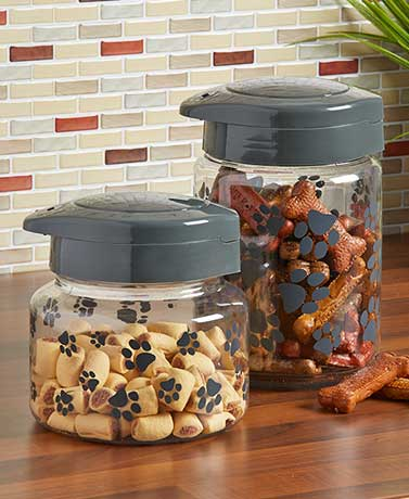 IRIS® Paw Print Premium Pet Treat Jars