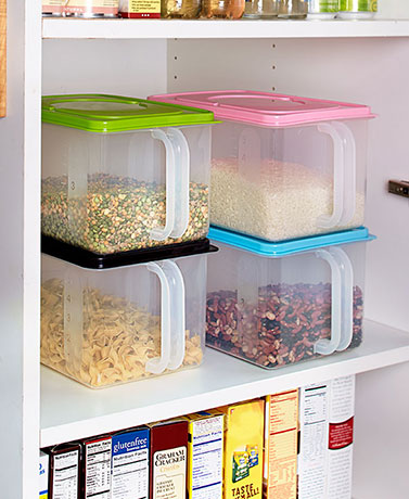 Pantry Food Storage Container with Handle