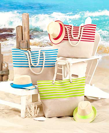 Bright Stripes Totes or Fedoras