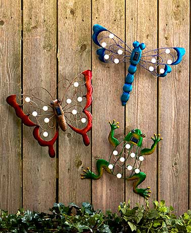 Solar Garden Wall Hangings