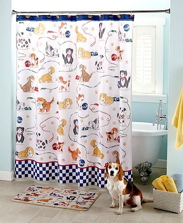 Playful Dogs Bathroom Collection