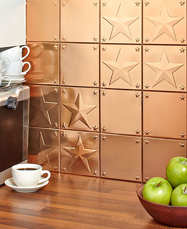 Sets of 16 Metal Backsplash Tiles