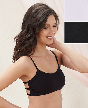 Sets of 2 Strappy Back Seamless Bras