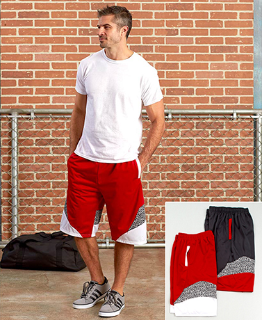 Men's Sets of 2 Pieced Active Shorts