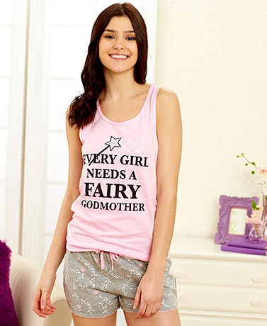 Women's Fairytale Shorty Pajama Sets