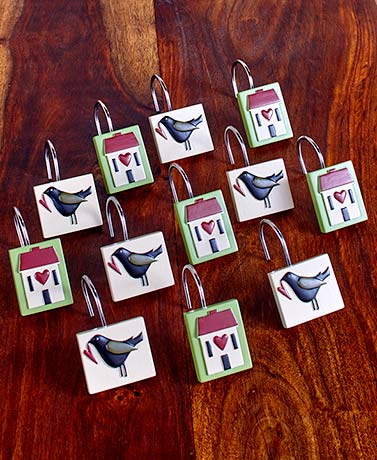 S12 Faith & Family Shower Curtain Hooks