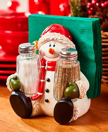 Holiday SaltPepper Napkin Holders