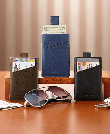 Leather RFID Pull-Tab Cash/Card Cases