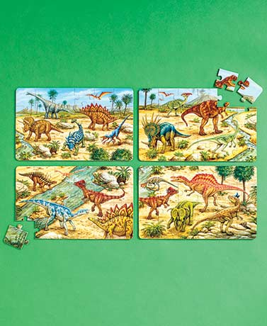Sets of 4 Puzzles in Wooden Storage Box