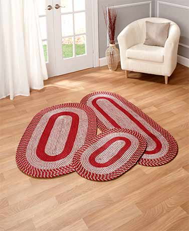 3-Pc. Braided Rug Sets | LTD Commodities