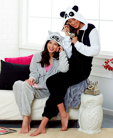 Women's Animal Hooded One-Piece Pajamas