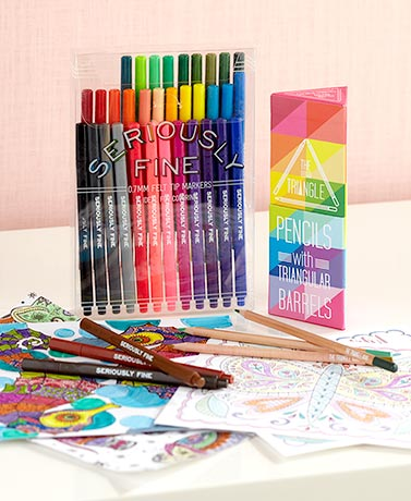 36-Pc. Colored Pencil or Marker Sets