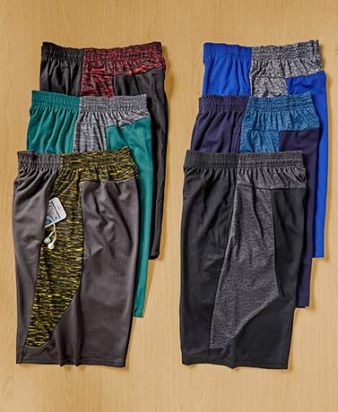 Men's Sets of 3 Mesh Basketball Shorts